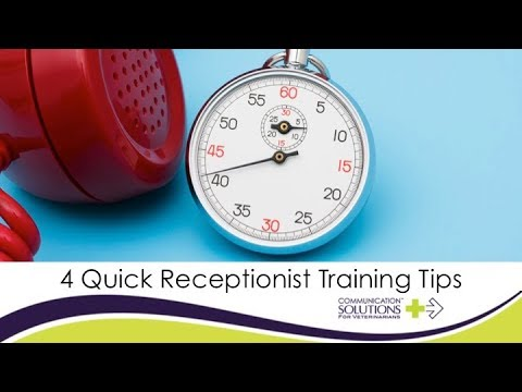 4 Quick Receptionist Training Tips - YouTube