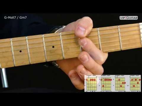 Gitarrenakkorde: G-Moll7 / Gm7 chord