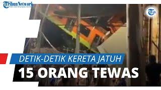 Video Detik-detik Jembatan Layang Ambruk saat Kereta Melintas di Atasnya, 15 Tewas dan 70 Terluka