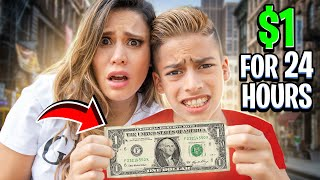 SURVIVING 24 Hours With $1 DOLLAR ONLY! (BAD IDEA) | The Royalty Family