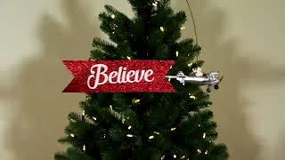 49311 - Mr. Christmas Animated Tree Topper - Biplane