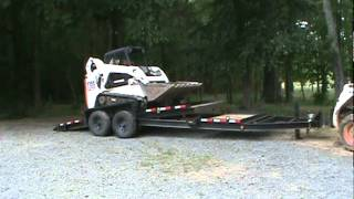 2007 Bobcat T190 & 2005 Belshe TILT Equipment Trailer FOR SALE