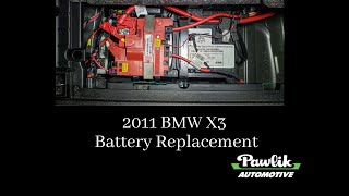 2011 BMW X3, Battery Replacement
