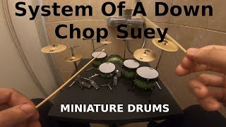 System Of A Down - Chop Suey🥁MINIATURE DRUMS Cover In Shower Cubicle🥁