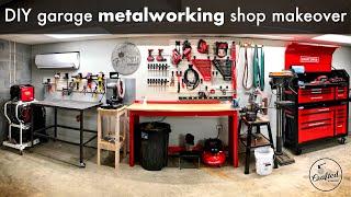 DIY Garage Metalworking Shop Makeover and Organization // Shop Project