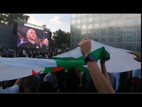 Manifestations des Algérien en France CAN - احتفال الجزائريين في فرنسا عند الفوز بالكاس افريقيا