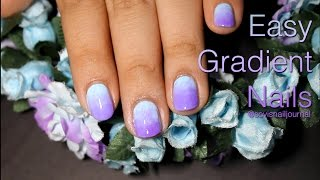 Easy Gradient Nails Without Makeup Sponge Tutorial | Sovis Nail Journal
