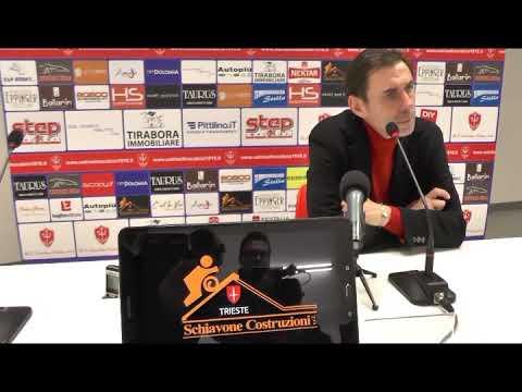 Sala stampa Triestina-Virtus Verona: Carmine Gautieri