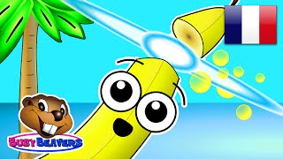 """Island Fruits Groove"" (FRENCH) Learn Fruit Names in Speak Français, Kids French Speaking"