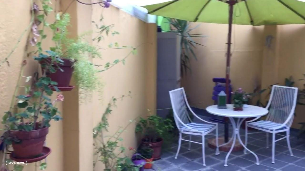 Luminoso piso de 1 habitación con un precioso jardín privado