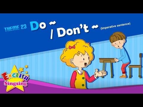 Do~/Don't~ - Imperative sentence