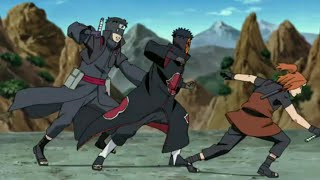 Tobi Vs Foo And Torune | Naruto Shippuden |