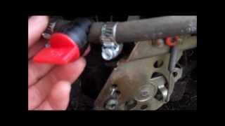 How to install an inline fuel shut off valve
