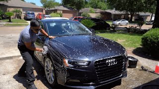 How To Wash and Clay Car in DIRECT Sunlight - Paint Correction Prep