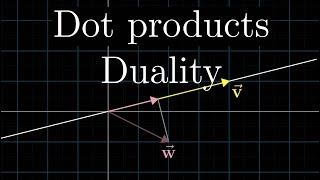 Dot products and duality  Essence of linear algebra, chapter 7