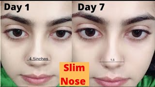 Best exercise for Nose Sliming | Get rid of big nose | Get errect and sharp nose