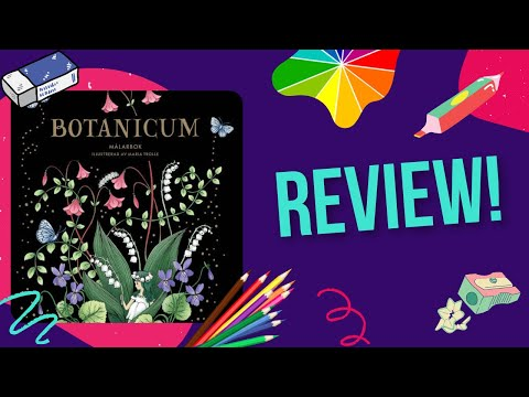 Botanicum By Maria Trolle Colouring Book Review