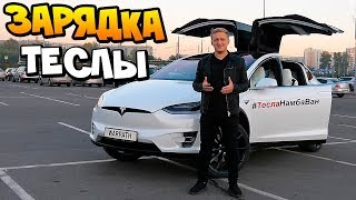 Устанавливаю электро - зарядку для Tesla Model X P100D в России + КОНКУРС С ТЕСЛОЙ #ТеслаНамбаВан