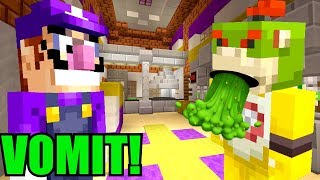 NEVER EAT THIS FOOD AT 3AM! *PUKE WARNING!*   Nintendo College   Minecraft [82]