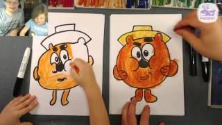 Как нарисовать КОПАТЫЧА из Мультика СМЕШАРИКИ / Уроки рисования