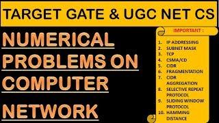 10 Computer Network Numerical Problems - GATE & UGC NET CS