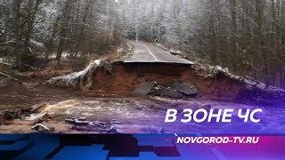 Количество подтопленных районов Новгородской области выросло до 11