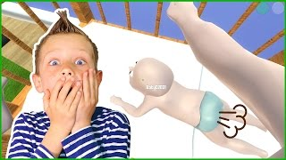 Baby FARTS in DADDY'S FACE ft. Freddy