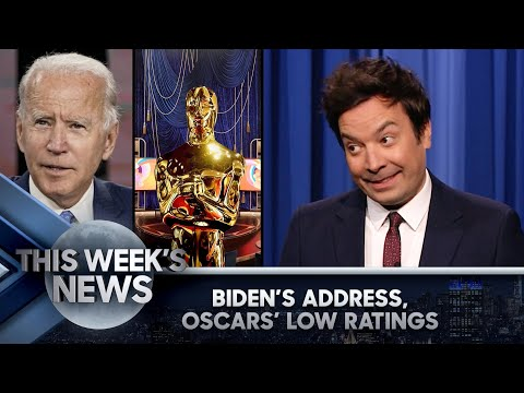 Biden's Address to Congress, Oscars' Record-Low Ratings: This Week's News | The Tonight Show