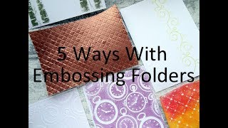 5 Embossing Folder Techniques