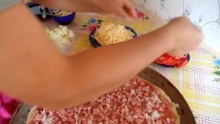 Приготовление пиццы.