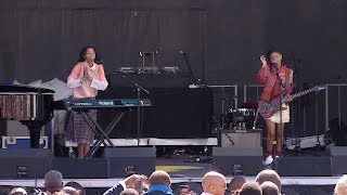 Chloe X Halle at the 2016 Easter Egg Roll