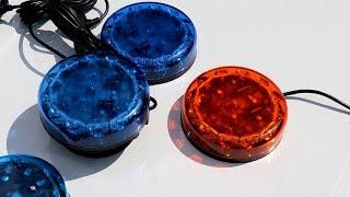 Strobos Baquada és ISAE M10 mobil megkülönböztető jelzés, kék