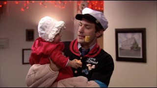 The Office S07E06 Costume Contest cutest popeye family