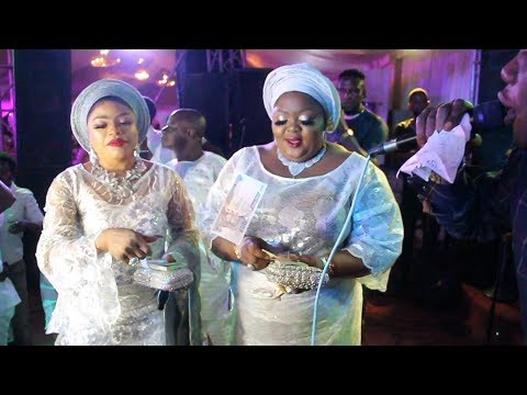 SENSATIONAL BOBRISKY AND ENIOLA BADMUS DANCE, SPRAY ENDLESSLY AT BURIAL PARTY FOR  TAYO SOBOLA'S MUM