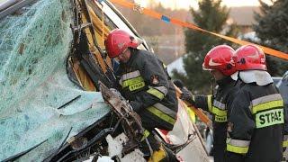 Wypadek w Lubli, zderzenie Tira z busem 2015