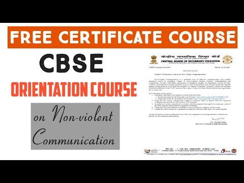 CBSE    Orientation Course on Non-Violent Communication    FREE ...
