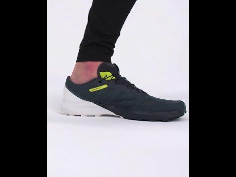 Salomon Sense 4 Pro Trail Running Shoes Ebony (Men's) - Ebony/White/Evening Primrose - Find Your Feet Australia Hobart Launceston Tasmania