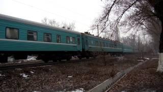 """Электровоз ВЛ80-1863 с поездом 322Т """"Нукус-Алматы"""""""