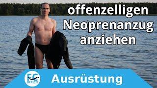 Freediving Neoprenanzug anziehen