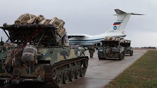 Na Krymie spadochroniarze przeprowadzili załadunek sprzętu do samolotów BTA