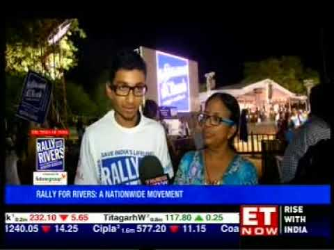 ET NOW - Rally for Rivers - 26/09/17