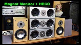 Bass Reflex Box Magnat Monitor 220 and HECO Vitas Center Speaker Lautsprecherbox (EN+CZ)