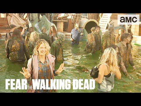'Waterpark Walkers' Behind the Scenes Ep. 404 | AMC 'Fear the Walking Dead' Thumbnail