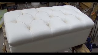 DIY: TUFTED BENCH WITH STORAGE SPACE | Diy - ALO Upholstery