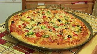 Hausgemachte Pizza Video Rezept⭐️ | Beginnen Sie, Pizza Rezept mit Teig, Sauce und Toppings zu beenden