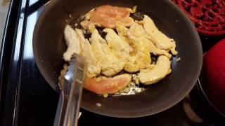 Creamy Garlic Chicken Tenderloins Dinner