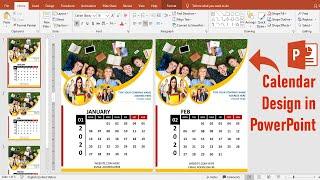 PowerPoint Tutorial || How To Make Calendar Design Using Ms PowerPoint || 2020 Calendar Design