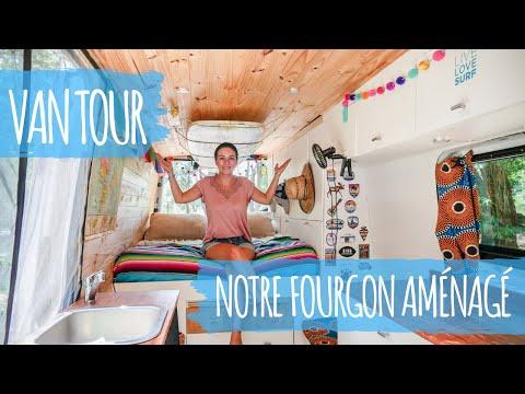 VAN TOUR   Visite de notre FOURGON AMÉNAGÉ après 1 an de voyage   SPRINTER avec douche et toilettes