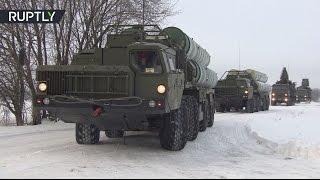 Зенитный ракетный полк C-400 заступил на боевое дежурство в Подмосковье