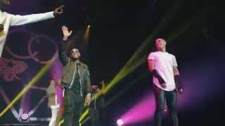 Usher surprises Nico & Vinz at #URXTour Manchester Arena 3/23/15